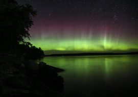 Elusive Northern Lights in Crane Lake